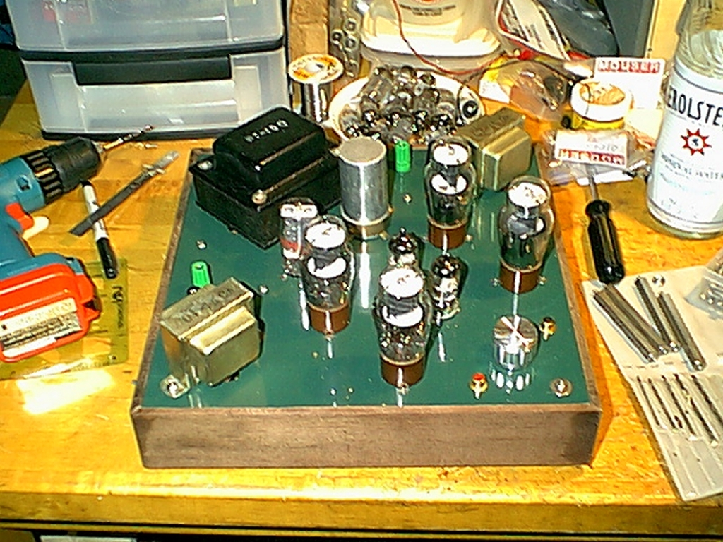 My Darling Variant Low Noise Power Supply For Audio Circuits Notice That The Two Chokes Seen In Underside Views Have Been Removed Finished Amp Capacitance Has Changed Around