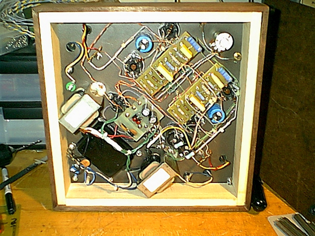 My Darling Variant Wiring Capacitor To Amplifier Notice That The Two Chokes Seen In Underside Views Have Been Removed Finished Amp Power Supply Capacitance Has Changed Around
